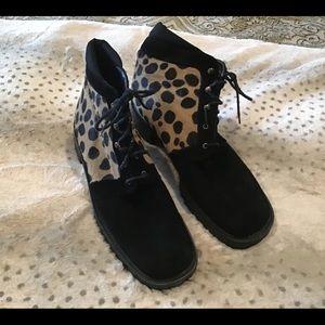 Stuart Weitzman leopard boots